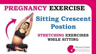 Stretching Exercise for Normal Delivery and Easy Labor   Crescent Pose   Half Moon Position