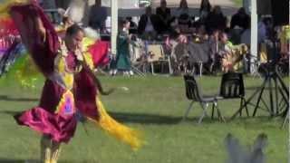 pow wow women fancy shawl dancer