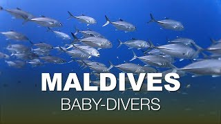 New experience for kids - diving in Maldives