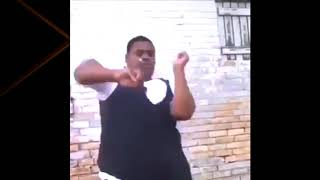 Fat guy dancing to anime music