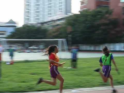 六年級女生400公尺接力賽 - YouTube