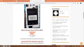 Huawei Clone P30 Pro Flash File Hang On Logo Stock Rom MT6580 Android 8 1 Ore Firmware Download