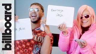 Karol G & Anuel AA Play 'How Well Do You Know Each Other?' | Billboard