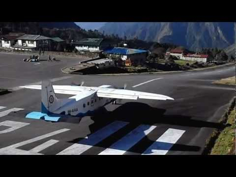 Takeoff at Lukla Tenzing-Hillary Airport, Nepal