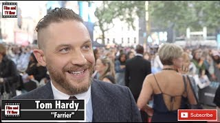 Tom Hardy can't stop smiling - or talking - at the Dunkirk premiere!