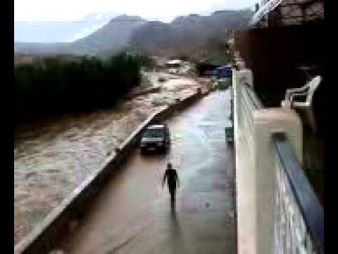 Heavy rain in Tafraoute, Morocco (August, 2010)