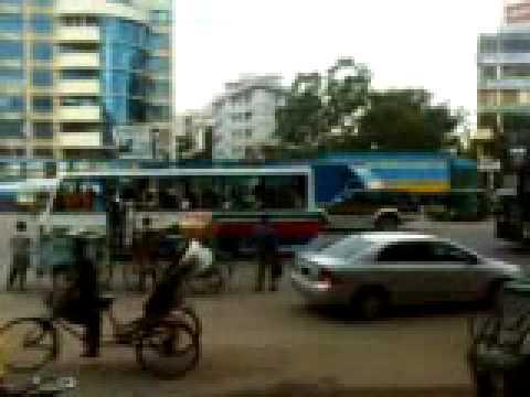 the frenetic mess on the roads of dhaka bangladesh