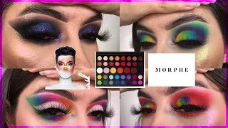 MORPHE X JAMES CHARLES ARTISTRY PALETTE REVIEW 4 LOOKS | Rocio Ceja