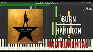 Burn (Instrumental) - Hamilton (Synthesia Piano Backing) *SHEET MUSIC*