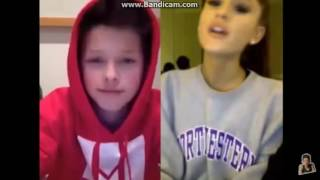 ARIANA GRANDE SINGS TO JACOB SARTORIUS ON YOUNOW