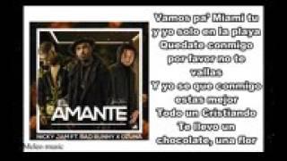 El Amante Remix   Nicky Jam Ft Bad Bunny Ozuna Letra