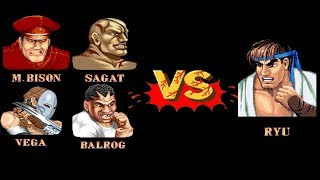Mugen - Street Fighter 2 - 4 versus 1 - Team Shadaloo vs. Wave Ryu - 影法邪惡帝國隊 vs. 波動隆