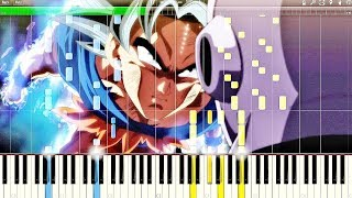 Dragon Ball Super OST - Ultra Instinct (Clash of Gods) | Piano Tutorial