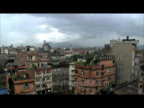 Rainy day in Kathmandu, Nepal