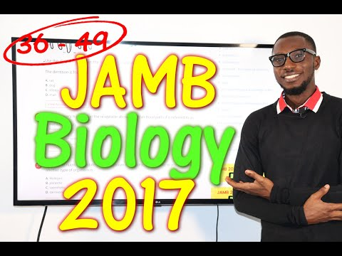 JAMB CBT Biology 2017 Past Questions 36 - 49