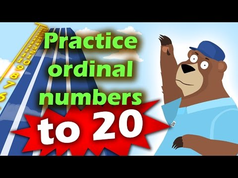 Learn and Practice Ordinal Numbers to 20 for Toddlers, Preschool and Kindergarten kids.