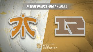 Mundial 2019: Fase de Grupos - Dia 7 | Fnatic x Royal Never Give Up (Jogo 6)