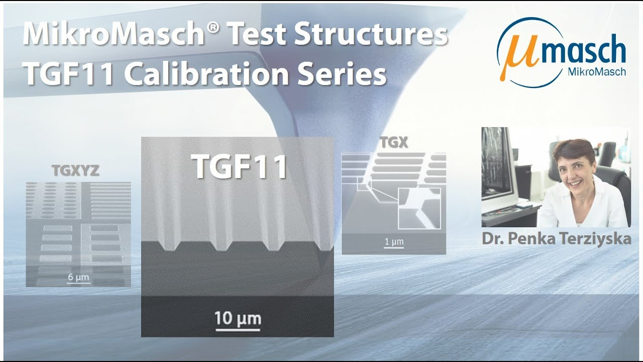 MikroMasch HQ Line Test Structures: TGF11 Calibration Series