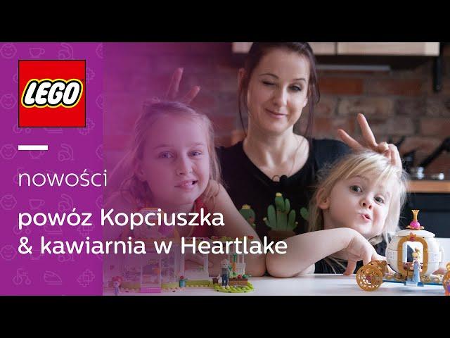NOWOŚCI LEGO 43192 Disney Królewski powóz Kopciuszka & LEGO 41444 Friends kawiarnia w Heartlake City