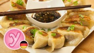 POTSTICKERS / GUOTIE (Jiaozi) / GYOZA mit Hähnchen – gebratene Teigtaschen