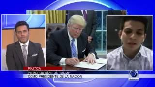 Andres Machado, analista político, habla de los primeros días de Trump como presidente
