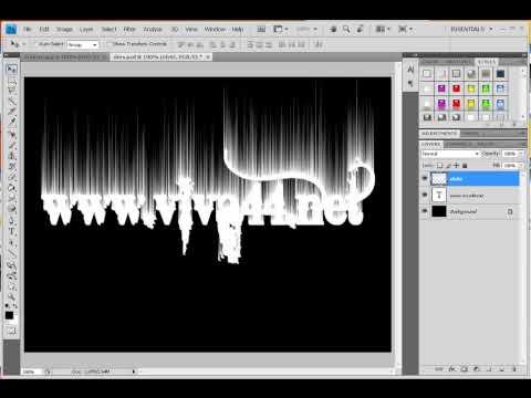 Ateşli Yazı Efekti - Photoshop CS4