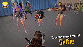 🔥 They Black-mail me for Selfie 😂😂 ( Solo vs Squad pubg mobile ) Gamexpro