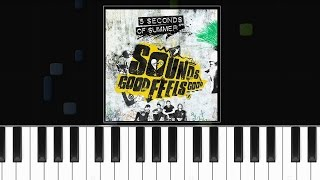 """5 Seconds  Of Summer -  """"Jet Black Heart"""" Piano Tutorial - Chords - How To Play - Cover"""