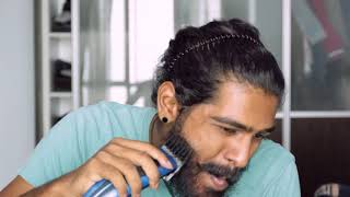 Shaving a 7 month old beard