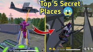 Top 5 Secret Hiding places in Free fire // Top Secrets🔥🔥