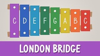 How to play London Bridge Is Falling Down on Xylophone - Easy Tutorial - YOUCANPLAYIT.COM