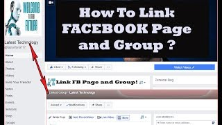 How to Link Facebook Page and Group - 2017 ?