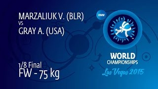 1/8 FW - 75 kg: A. GRAY (USA) df. V. MARZALIUK (BLR), 6-0 width=