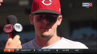 Scooter Gennett discusses his hot stretch of hitting with Cincinnati Reds after win over Nationals