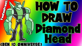 how to draw diamondhead from ben 10 omnivewrse youcandrawit 1080p hd
