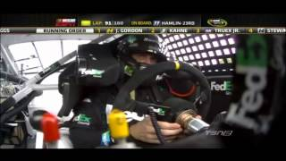 2012 Pennsylvania 400 - Leaders Wreck - Call by MRN
