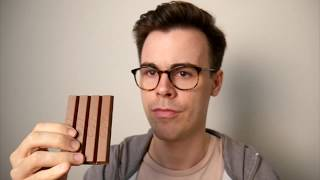 Eating a Kit Kat in an even more wrong way