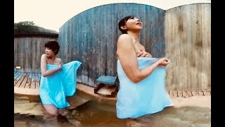 女子二人旅!日帰り屋上露天風呂!【360VR温泉美人】 #10   岡山県湯原温泉★Japan's hot springs Bathing Japanese Beauty