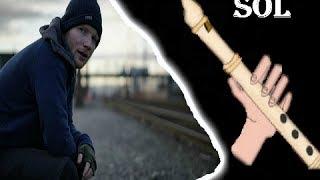 Shape of you, Ed Sheeran, flauta fácil, tutorial con animación,