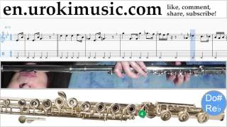 How to Play Flute Star Wars - Imperial March Tabs Part#2 um-i352