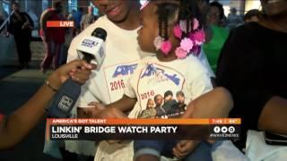 Linkin' Bridge Live Shot at America's Got Talent Watch Party