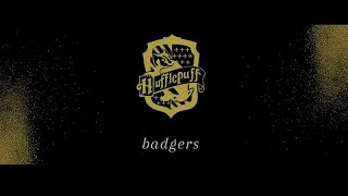 badgers; {hufflepuff house}