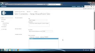 SharePoint 2013: How to create a site with a site template