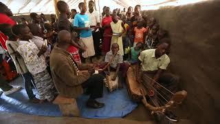 South Sudanese Worship with Adungu Harps in Adjumani Camp, Uganda