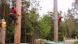 Jack Pine Lumberjack Shows - Mackinaw City, MI - YouTube