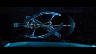 avalon spaceship hit meteor starting movie