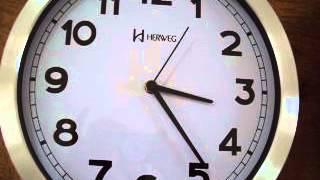 6406s Relógio Parede SEM Tic-tac Sweep 30 Cm Aluminio Herweg