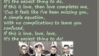 Love Is Easy - Mcfly Lyrics