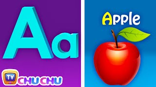 Phonics Song with TWO Words - A For Apple - ABC Alphabet Songs with Sounds for Children width=