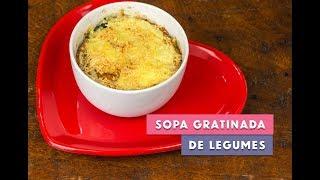 Receita - Sopa gratinada de legumes